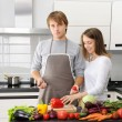 Couple cooking — Stock Photo #4179333
