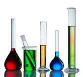 Chemical flasks — Stock Photo