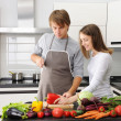 Couple cooking — Stock Photo #4433308