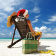 Caribbean Santa — Stock Photo