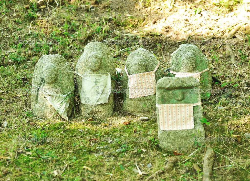 Group of Japanese Stone in Kyoto, Japan — Stock Photo #4620991