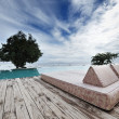 Chaise Lounge patio — Foto Stock