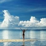 Girl on a beach — Stock Photo #4732402