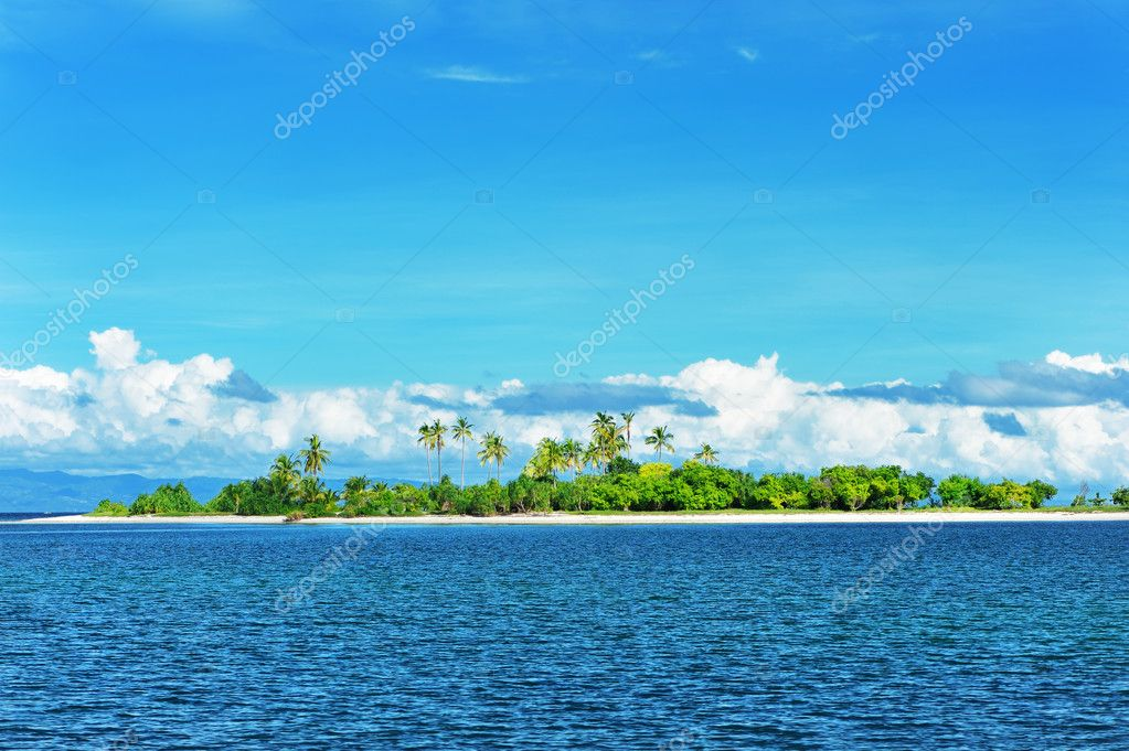 Beautiful uninhabited island at Philippines — Stock Photo #4859063