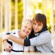 Stock Photo: Happy mother and son
