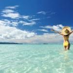 Girl on a beach — Stock Photo #5112734