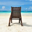 Chaise lounge at beach — Stock Photo #5180822