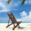 Stock Photo: Chaise lounge at beach