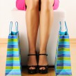 Woman with shopping bags — Stock Photo #5180955