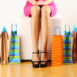 Woman with shopping bags — Stock Photo #5180989
