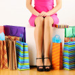 Woman with shopping bags — Stock Photo #5181050