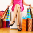 Womwith shopping bags — Stock Photo #5181069