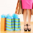 Woman with shopping bags — Stock Photo #5181134