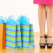 Woman with shopping bags — Foto de Stock