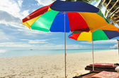 Beach parasols — Stock Photo