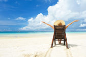 Dívka na pláži — Stock fotografie
