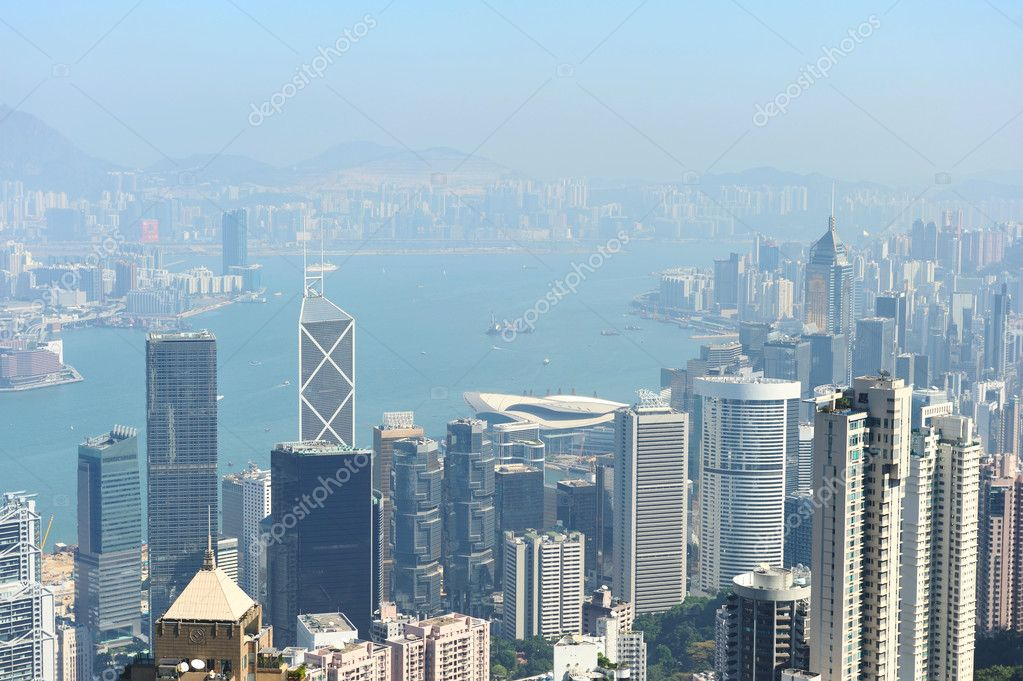 Hong Kong cityscape. No brand names or copyright objects. — Stock Photo #5200945