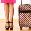 Woman with travel suitcase — Stock Photo #5220220