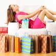 Woman with shopping bags — Stock Photo #5220241