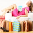 Woman with shopping bags — Stock Photo #5220247