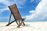 Chaise lounge at beach — Stock Photo