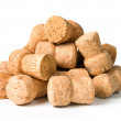 Cork on a white — Stock Photo
