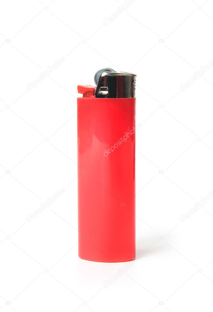 Isolated red lighter on a white background — Stock Photo #4799046