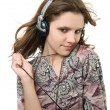 Listening music — Stock Photo