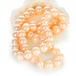 Pearl necklace isolated on the white background — Stock Photo