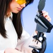 Woman scientist working in the lab - Stock Photo