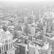 chicago downtown area - vintage style black and white photo — Stock Photo