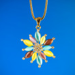 Stock Photo: Pendant against colour gradient background