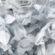 Recycling concept with lots of waster paper — Stock Photo