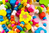 Close up of various colourful bracelets — Stockfoto