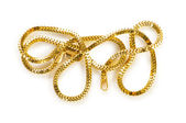 Golden chain isolated on the white background — Stockfoto
