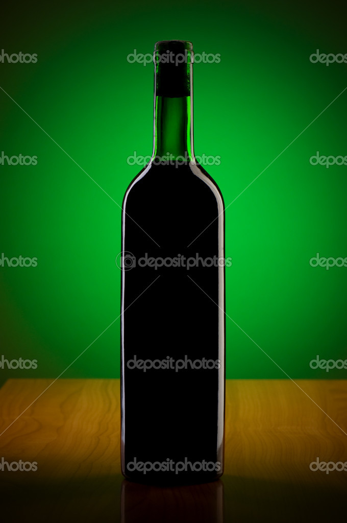 Wine against colour gradient background  Stock Photo #4206838