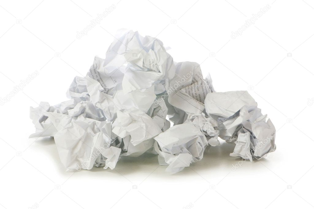 Recycling concept with lots of waster paper — Stock Photo #4209966