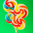 Colourful lollipop against the colourful background - Foto Stock