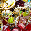 Jewellery arranged at the background — Stock Photo