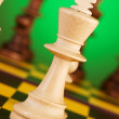 Chess concept with pieces on the board — Stockfoto