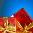 Gift box against gradient background — Stock Photo #4218073
