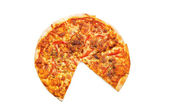 Pizza isolated on the white background — Stock Photo