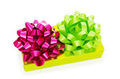 Caja de regalo aislado sobre el fondo blanco — Foto de Stock