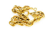 Golden chain isolated on the white background — Stok fotoğraf
