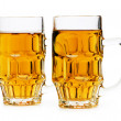 Beer glasses isolated on the white background — Foto Stock