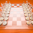 Set of chess figures on the board — Stock Photo #4346240
