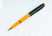 Writing pen on the blank page — Stock Photo