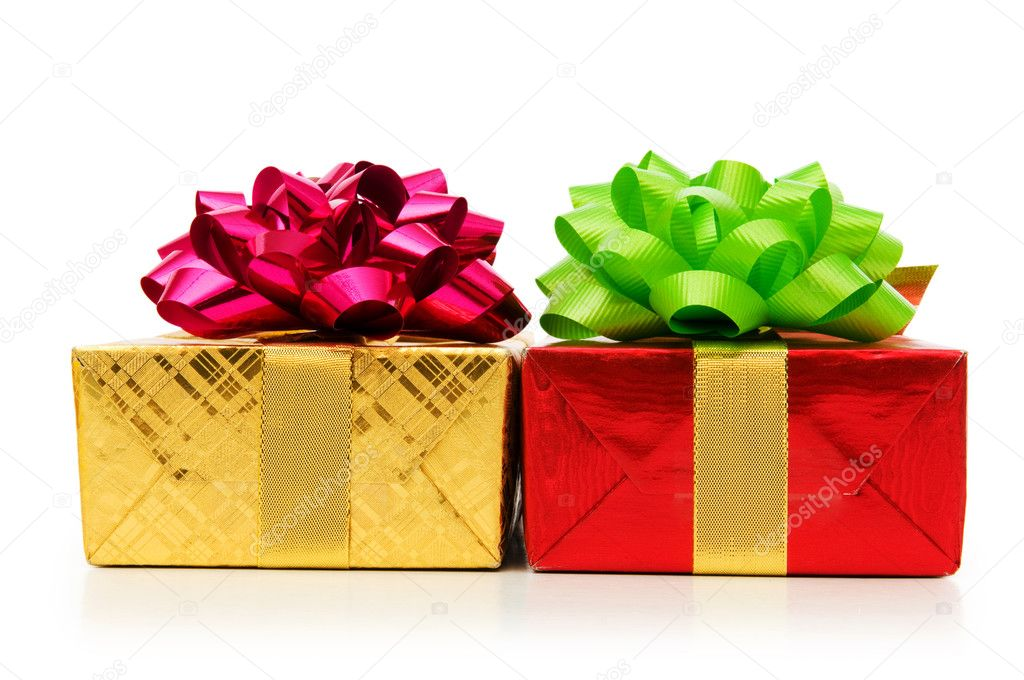 Gift box isolated on the white background — Stock Photo #4344944
