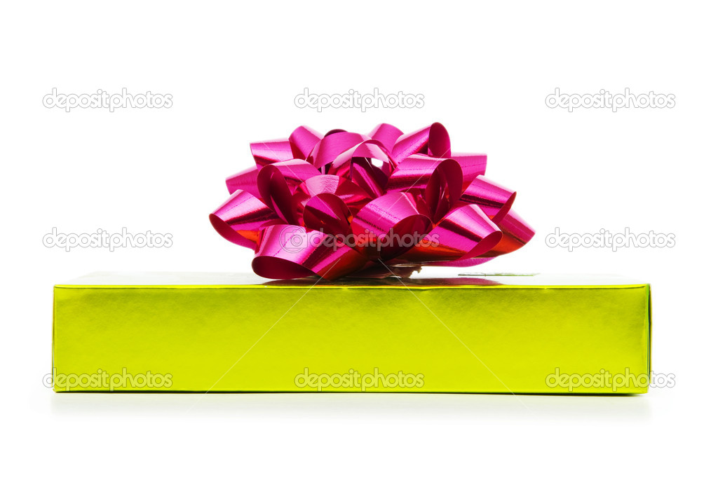 Gift box isolated on the white background — Stock Photo #4345446