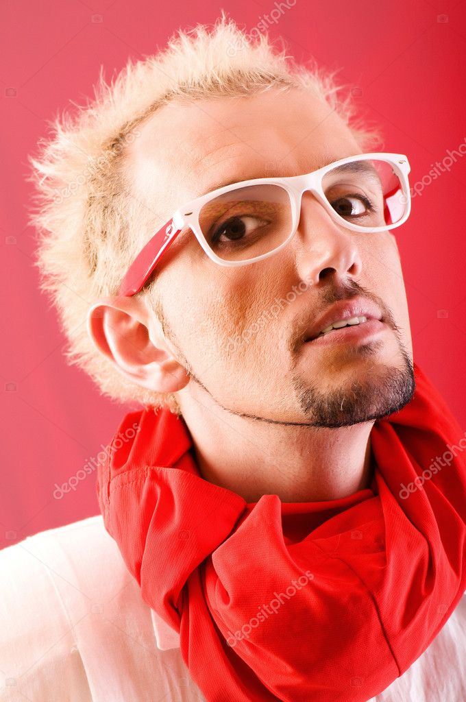 Portrait of a man with glasses — Stock Photo #4348738